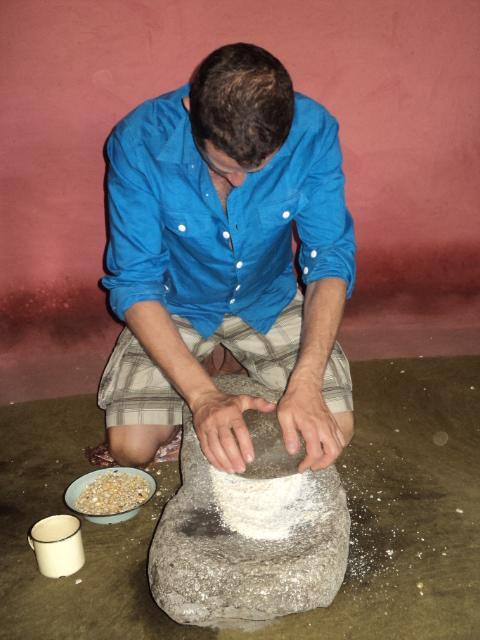 Learning to grind maize (ukuguba)